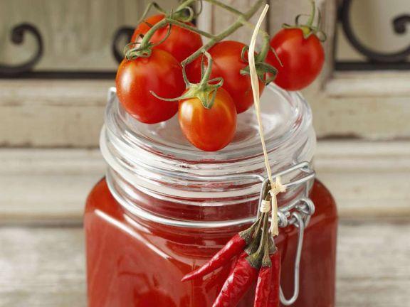 Scharfe Tomatenmarmelade