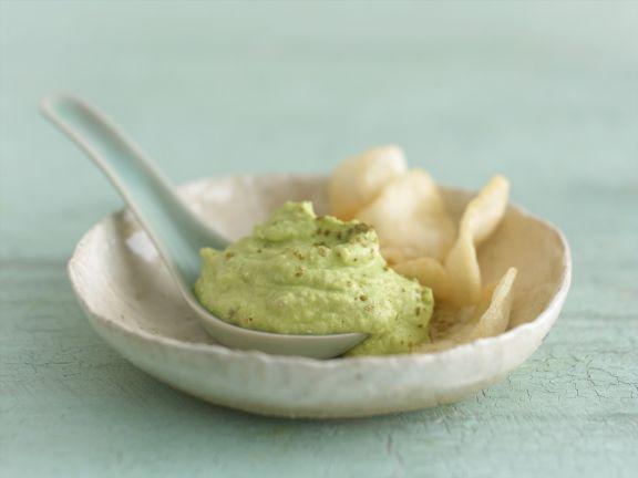 Scharfer Avocadodip mit Wasabi