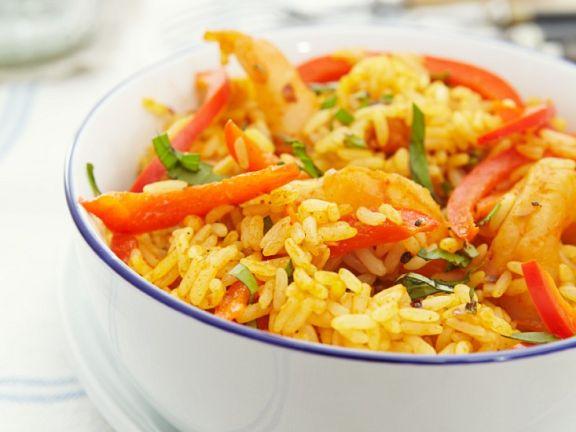 Scharfer Garnelen-Reis