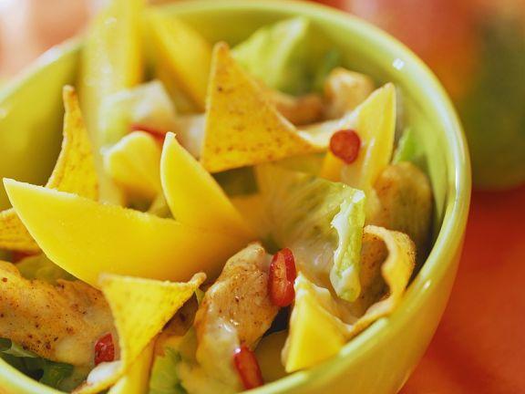 Scharfes Hähnchen mit Tortillachips