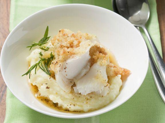 Schellfisch mit Kartoffelhaube und Püree