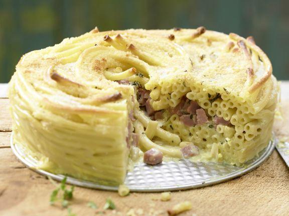 Schinken-Nudel-Torte