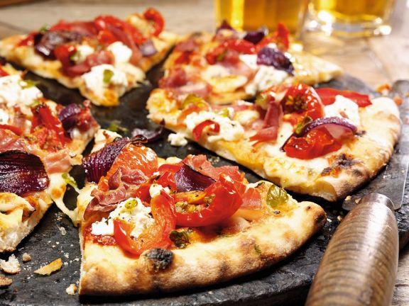 Schinken-Paprika-Pizza