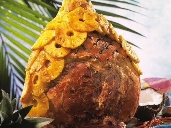Schinkenkeule mit Ananas