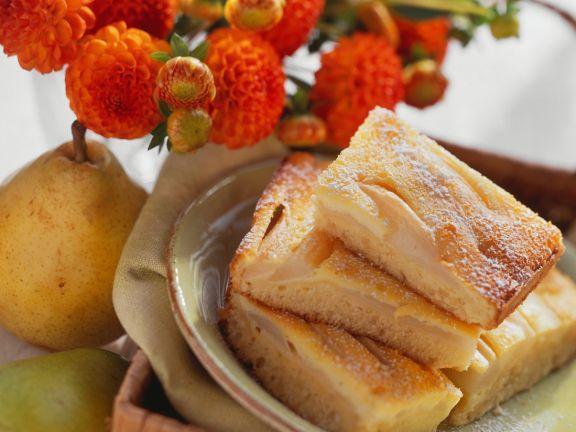 Schmand-Birnenkuchen