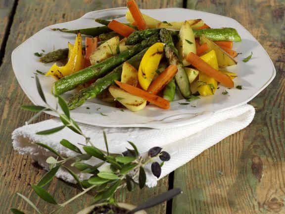 Schmorgemüse mit Olivenpaste