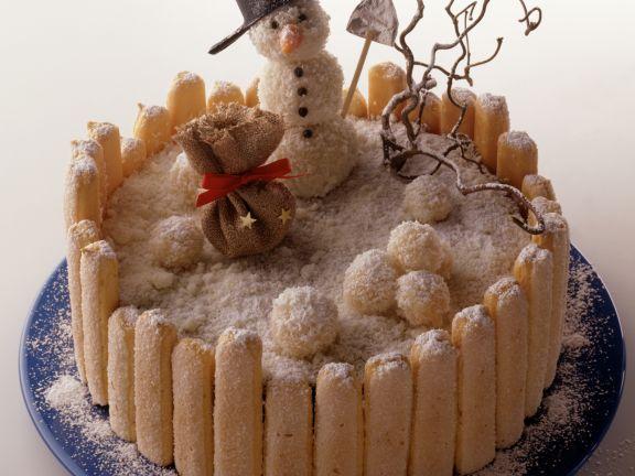 Schneemann-Torte