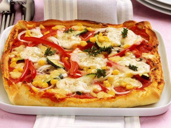 Schnelle Pizza Mit Gemüse Rezept Eat Smarter