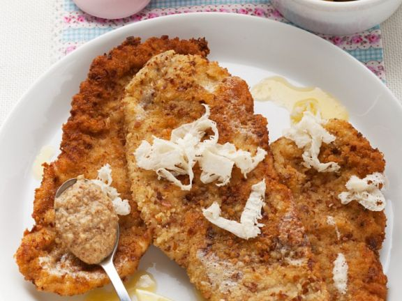 Schnitzel mit gebratenen Kartoffeln