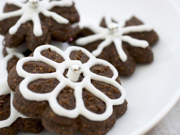 Schoko-Blumen zu Weihnachten