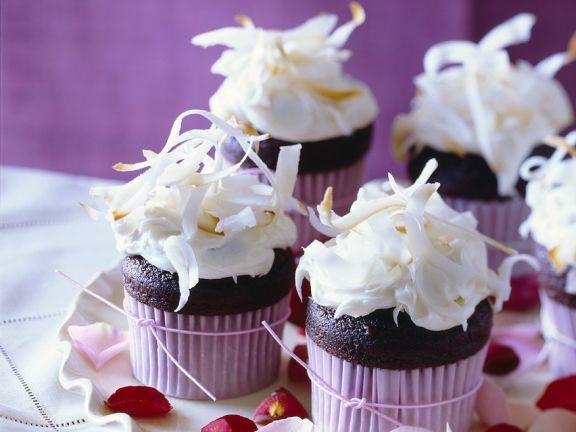 Schoko-Cupcakes mit Kokos
