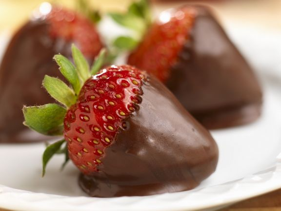 Schoko-Erdbeeren