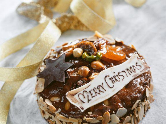 Schoko-Früchtekuchen für Weihnachten