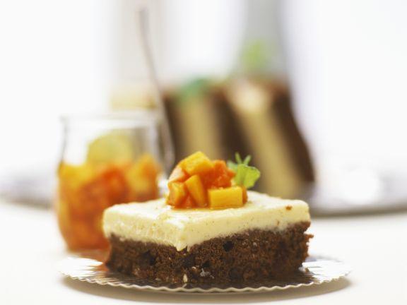 Schoko-Kaffee-Kuchen mit Vanillecreme