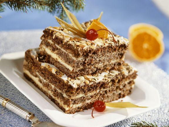 Nuss torte vanillecreme