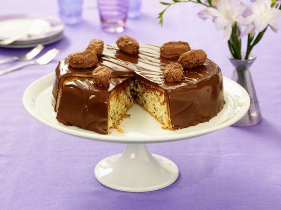 Schoko-Nuss Torte mit Trüffelpralinen
