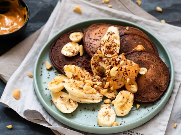 Schoko-Pancakes mit Haferdrink
