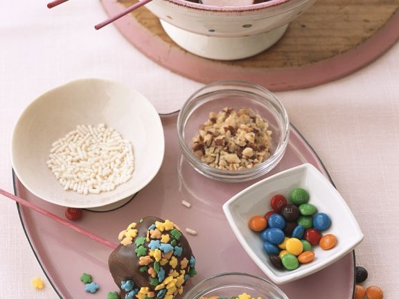 Schokofondue mit Marshmallos