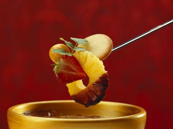 Schokofondue mit Obst