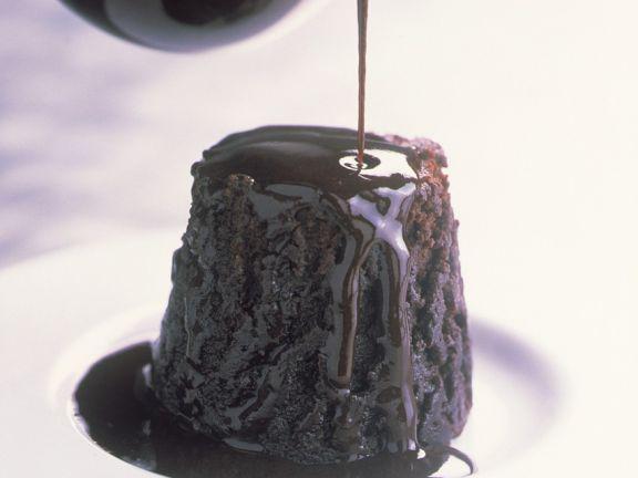 Schokoküchlein mit Schokoladensauce