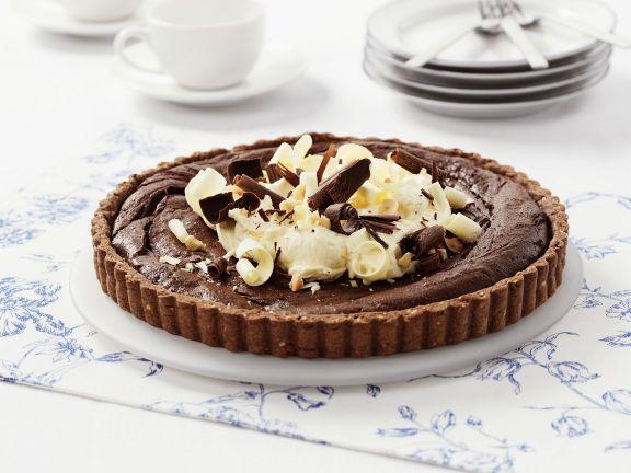 Schokoladen-Haselnuss-Tarte