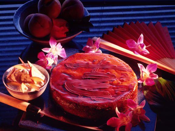 Schokoladen-Pfirsich-Torte