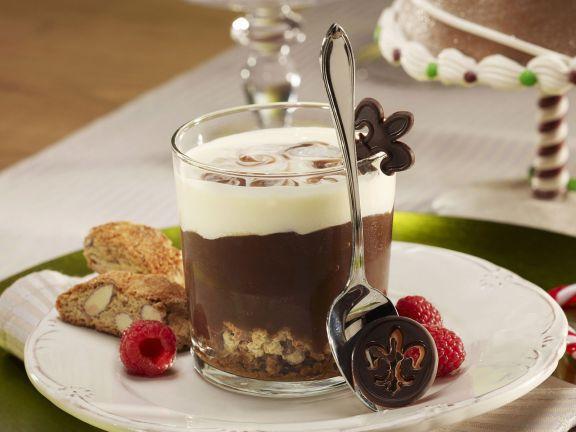 Schokoladencreme mit Cantuccini