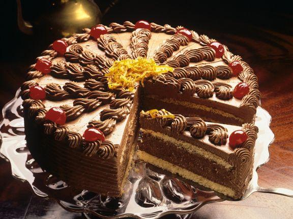 Schokoladencremetorte