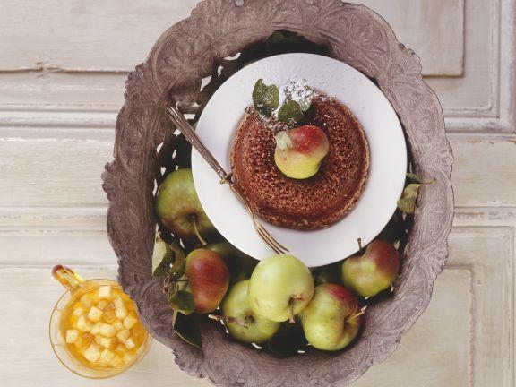 Schokoladengratin mit Apfelkompott
