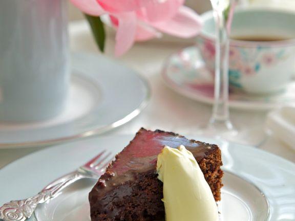 Schokoladenkuchen mit Rote Bete