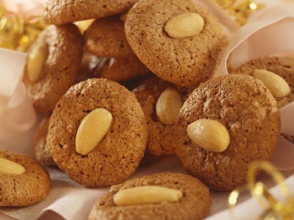 Schokoladenmakronen mit Mandeln