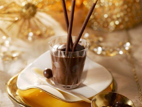 Schokoladenmousse zu Weihnachten