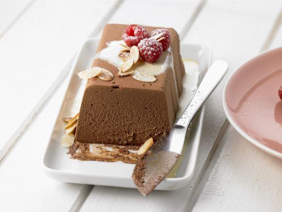 Schokoladenparfait mit Himbeeren