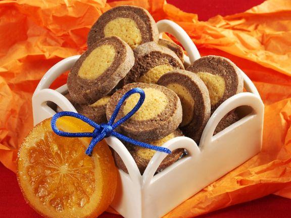 Schokoladenplätzchen mit Orange