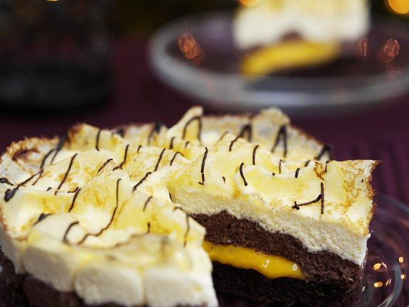 Schokoladentorte mit Crepes