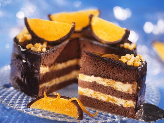 Schokoladentorte mit Orange