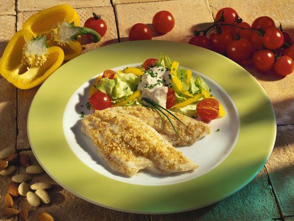 Scholle mit Salat