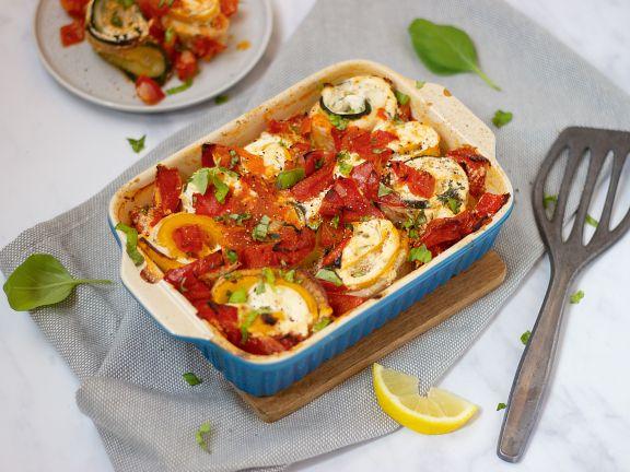 Schollen-Zucchini-Röllchen mit Frischkäsefüllung