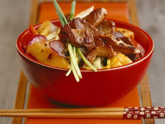 Schweinefilet mit Gemüse