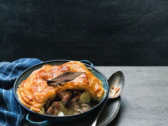 Schweinefleisch-Apfel-Pie
