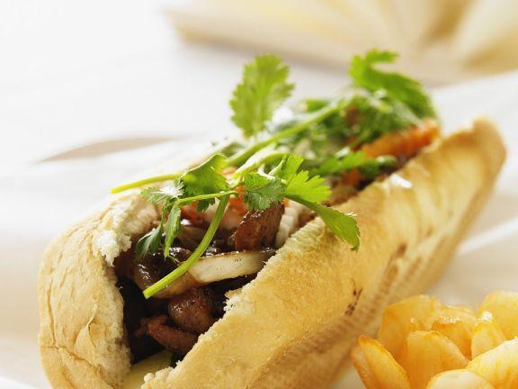 Schweinefleisch-Sandwich