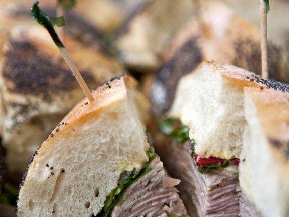 Schweinefleisch-Sandwiches