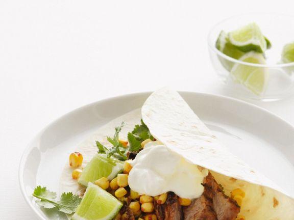Schweinefleisch-Tacos