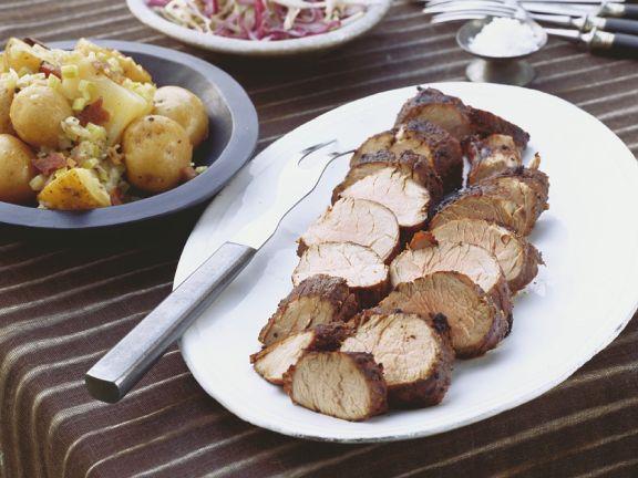 Schweinefleisch vom Grill