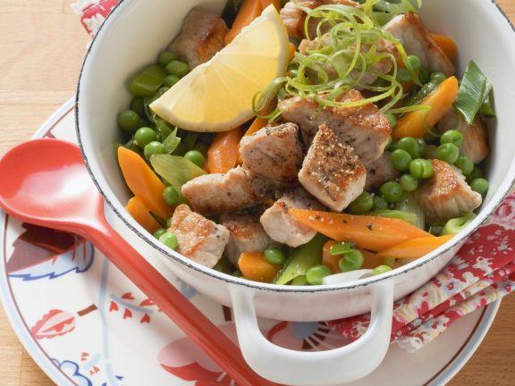Schweinegulasch mit Gemüse