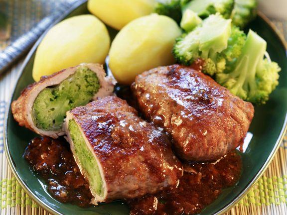 Schweineschnitzel mit Brokkolifüllung