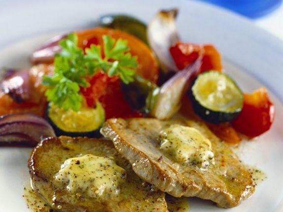 Schweineschnitzelchen mit Gemüse