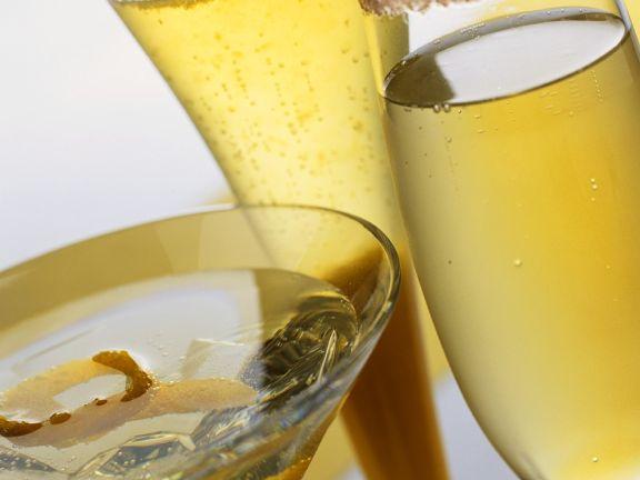 Sekt-Cocktailvariationen