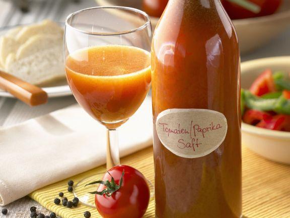 Selbstgemachter Tomaten-Paprika-Saft