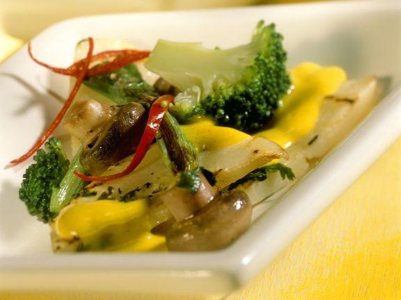 Sellerie-Kokos-Curry und Reis